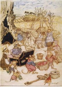 Wind in Willows, Mice by Arthur Rackham