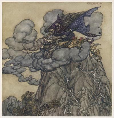 Witch Brews Storm by Arthur Rackham
