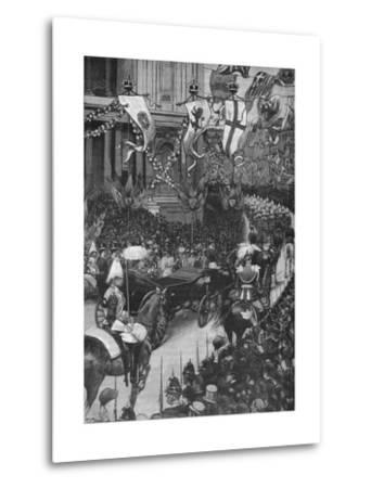 Marriage of the Duke of York: the Royal Procession Passing St Pauls Cathedral, 1893