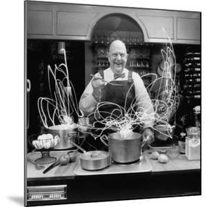 Author and Top Chef James A. Beard in Kitchen Creating Light Trails Al a Picasso by Arthur Schatz