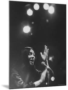 Cree Indian Folk Singer Buffy Sainte Marie, During a Concert by Arthur Schatz
