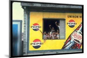 Large Billboard Painted on Side of Building Advertising Pepsi Cola, Manila, Philippines by Arthur Schatz
