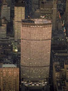 Pan Am Office Building in New York City with Private Helicopter Landing on the Rooftop Heliport by Arthur Schatz