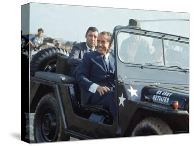 President Richard M. Nixon Travelling in Us Army Jeep During Visit to Vietnam
