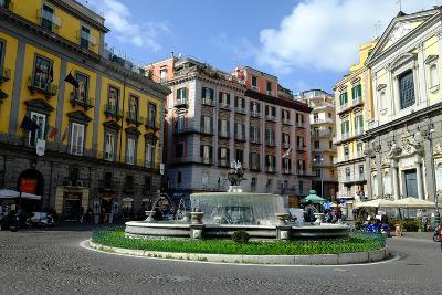 Artichoke Fountain, Trieste and Trento Square, Naples, Campania, Italy, Europe-Carlo Morucchio-Photographic Print
