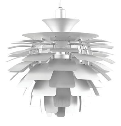 Artichoke Leaf Lamp - Silver