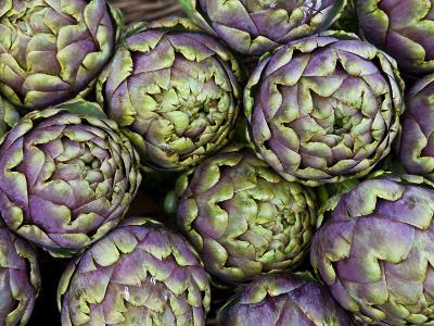 Artichokes for Sale at Market at Campo De' Fiori-Richard l'Anson-Photographic Print