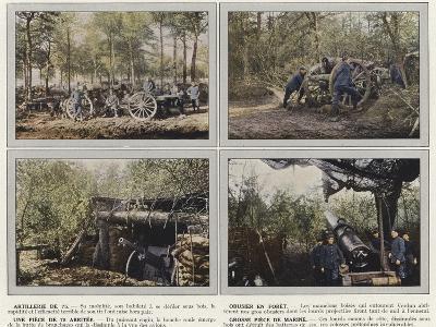 Artillerie De 75, Obusier En Foret, Une Piece De 75 Abritee, Grosse Piece De Marine-Jules Gervais-Courtellemont-Photographic Print