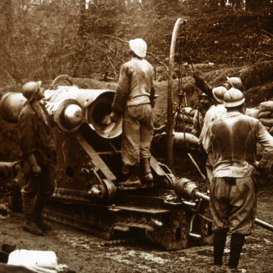 Artillery, Bois du Chatelet, France, c1914-c1918-Unknown-Photographic Print