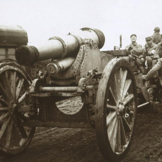 Artillery column at Verdun, northern France, c1914-c1918-Unknown-Photographic Print