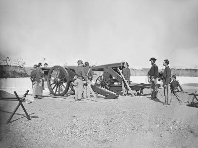 Artillery Drill in Fort During the American Civil War-Stocktrek Images-Photographic Print