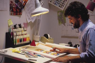 Artist at Work-Comstock-Photographic Print