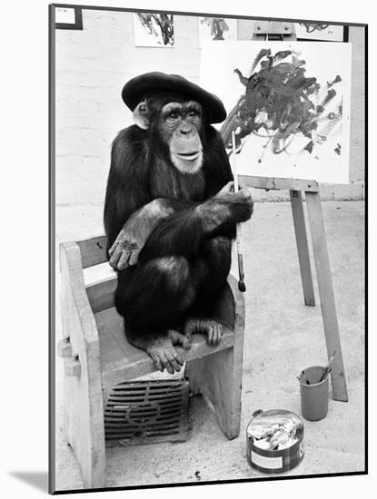 Artist Chimp 1955-Williams-Mounted Photographic Print