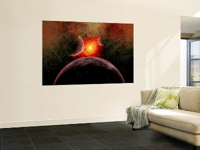Artist' Concept Illustrating the Stellar Explosion of a Supernova-Stocktrek Images-Wall Mural