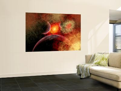 Artist' Concept Illustrating the Stellar Explosion of a Supernova-Stocktrek Images-Giant Art Print