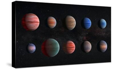 Artist Impression of Hot Jupiter Exoplanets - Unannotated