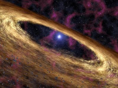 Artist's Concept Depicts a Type of Dead Star Called a Pulsar and the Surrounding Disk of Rubble-Stocktrek Images-Photographic Print
