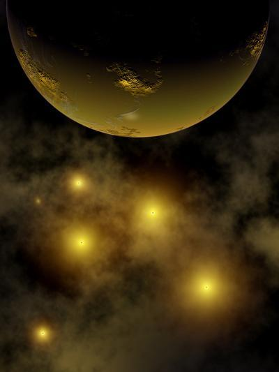 Artist's Concept Illustrating a Star Cluster in the Milky Way Galaxy-Stocktrek Images-Photographic Print