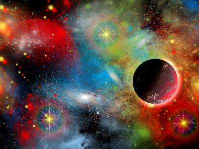 Artist's Concept Illustrating Our Beautiful Cosmic Universe-Stocktrek Images-Photographic Print