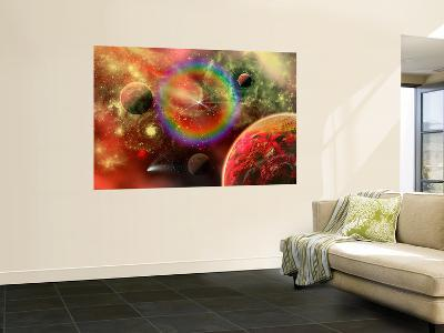 Artist's Concept Illustrating the Cosmic Beauty of the Universe-Stocktrek Images-Wall Mural
