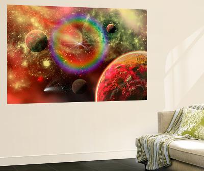 Artist's Concept Illustrating the Cosmic Beauty of the Universe-Stocktrek Images-Giant Art Print