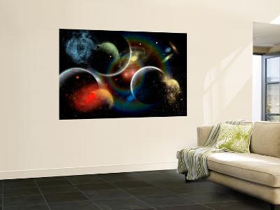 Artist's Concept Illustrating the Edge of Space-Stocktrek Images-Wall Mural