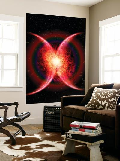 Artist's Concept Illustrating the Point When Two Planets Touch-Stocktrek Images-Wall Mural