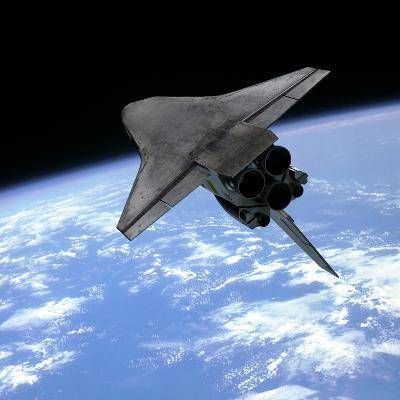 Artist's Concept of a Space Shuttle Entering Earth Orbit-Stocktrek Images-Photographic Print