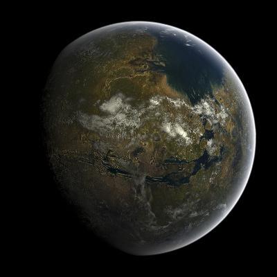 Artist's Concept of a Terraformed Mars-Stocktrek Images-Photographic Print