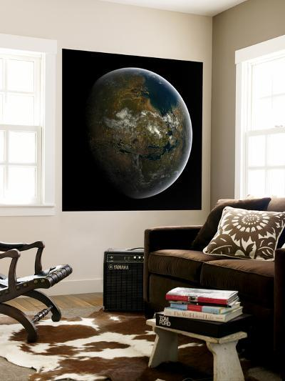 Artist's Concept of a Terraformed Mars-Stocktrek Images-Wall Mural