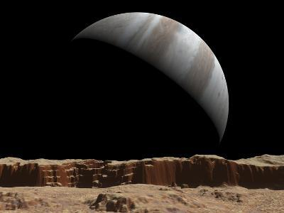 Artist's Concept of a View Towards Jupiter across the Surface of Io-Stocktrek Images-Photographic Print