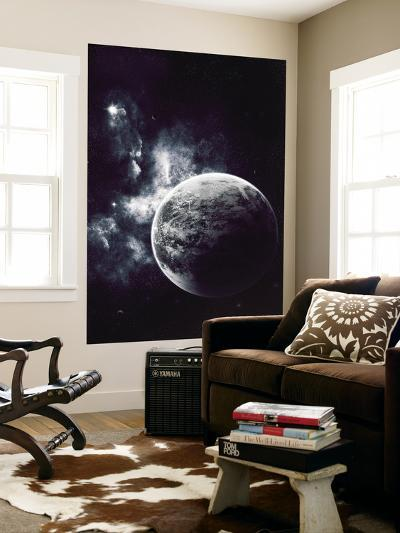 Artist's Concept of a Windy Planet with a Thick Atmosphere-Stocktrek Images-Wall Mural