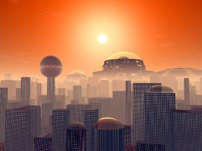 Artist's Concept of an Earth Buried by Layers of Cities Built by Generations of Our Descendants-Stocktrek Images-Photographic Print
