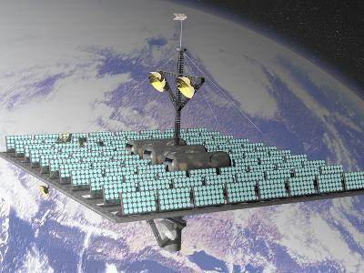 Artist's Concept of an Orbiting Solar Power Station-Carol & Mike Werner-Photographic Print