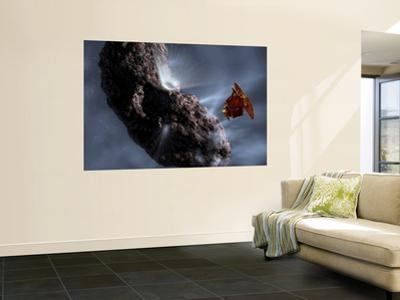 Artist's Concept of Deep Impact's Encounter with Comet Tempel 1