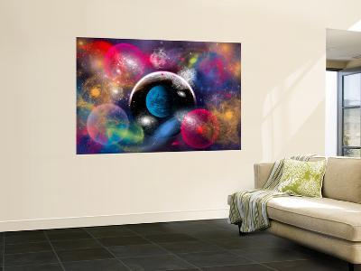 Artist's Concept of Dimensional Doorways Within the Universe-Stocktrek Images-Wall Mural
