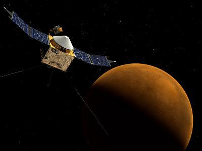 Artist's Concept of NASA's MAVEN Spacecraft-Stocktrek Images-Photographic Print
