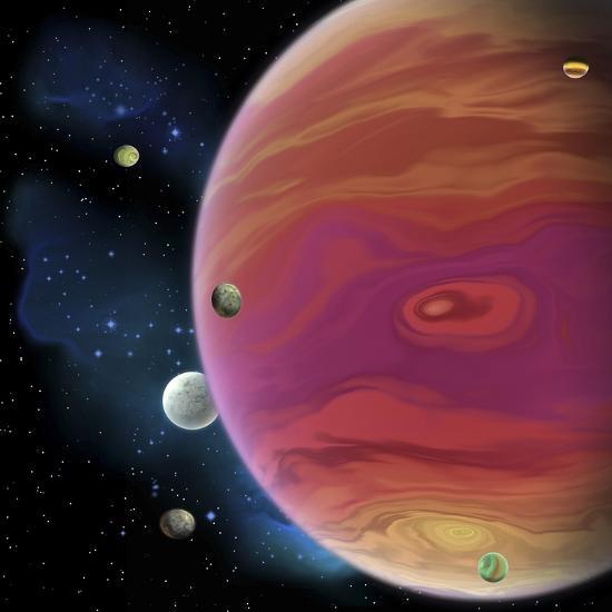 Artist's Concept of Planet Jupiter-Stocktrek Images-Art Print
