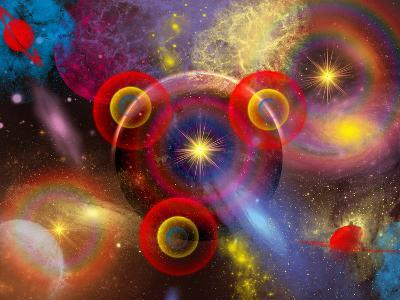 Artist's Concept of Planets and Stars Mixed Together in an Ever-Changing Nebula-Stocktrek Images-Photographic Print