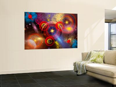 Artist's Concept of Planets and Stars Mixed Together in an Ever-Changing Nebula-Stocktrek Images-Wall Mural