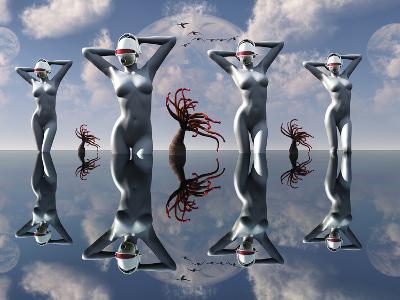 Artist's Concept of Pleasure Droids-Stocktrek Images-Photographic Print