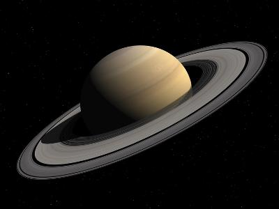 Artist's Concept of Saturn-Stocktrek Images-Photographic Print