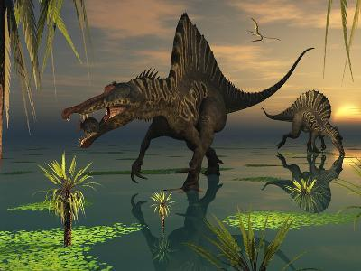 Artist's Concept of Spinosaurus-Stocktrek Images-Photographic Print