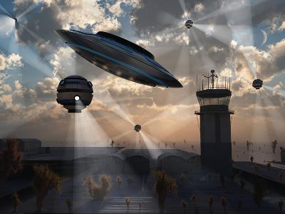 Artist's Concept of Stealth Technology Being Developed on Area 51-Stocktrek Images-Photographic Print