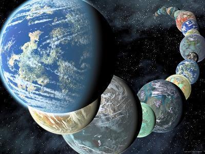 Artist's Concept of Terrestrial Worlds-Stocktrek Images-Photographic Print