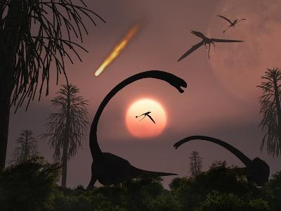 Artist's Concept of the Extinction of Prehistoric Earth-Stocktrek Images-Photographic Print