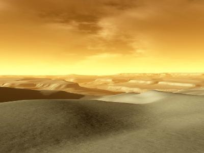 Artist's Concept of the Terrain Near the South Pole of Mars-Stocktrek Images-Photographic Print
