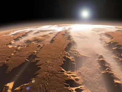 Artist's Concept of the Valles Marineris Canyons on Mars-Stocktrek Images-Photographic Print
