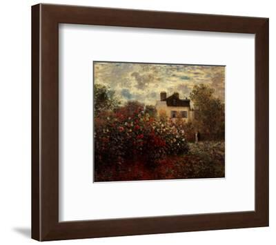 Artist's Garden in Argenteuil-Claude Monet-Framed Art Print