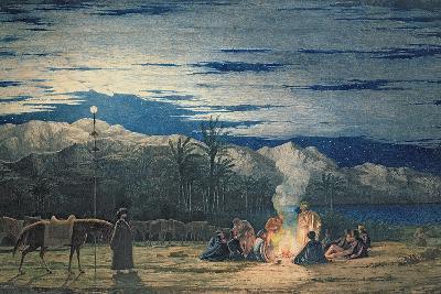 Artist's Halt in the Desert by Moonlight, C.1845-Richard Dadd-Giclee Print